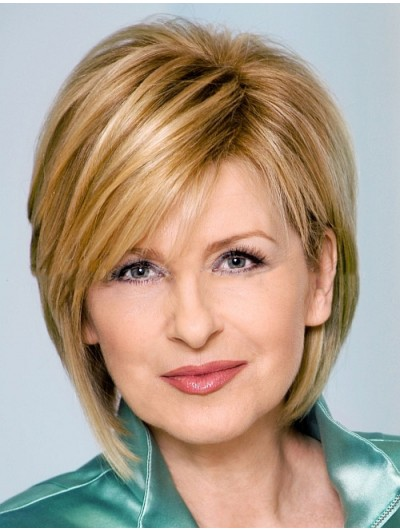 Straight Capless Short Synthetic Hair Bobs Blonde Wig