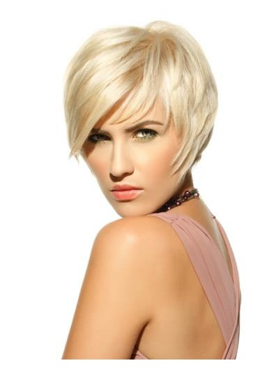 Straight Capless Short Synthetic Hair Classic Blonde Wig