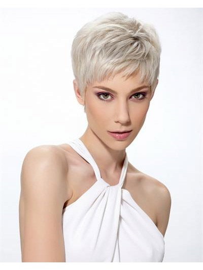 Straight Capless Short Synthetic Hair Boycuts Blonde Wig