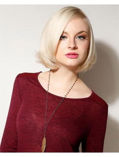 Straight Lace Front Short Synthetic Hair Bobs Blonde Wig