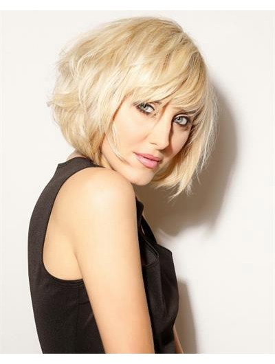 Wavy Capless Short Synthetic Hair Bobs Blonde Wig