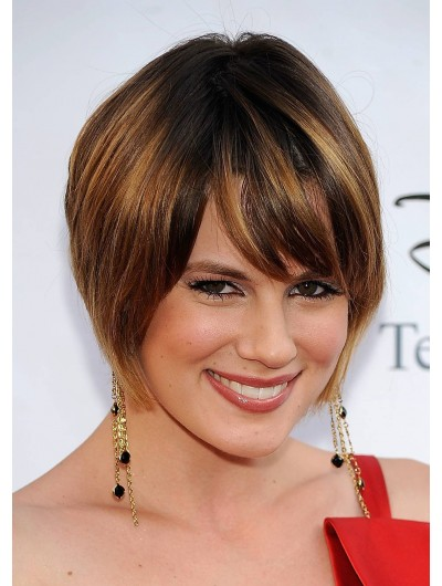 Cute Straight Short Hair Wig With Bangs