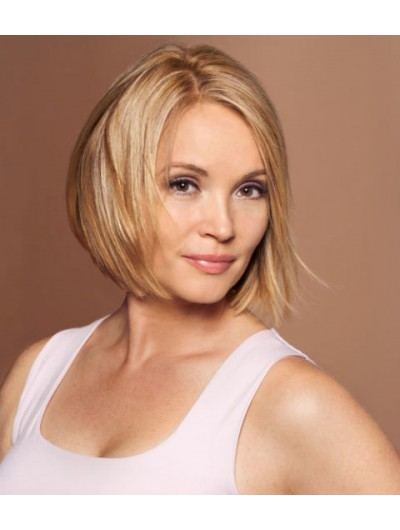 Blonde Bob Front Synthetic Hair Straight Wig