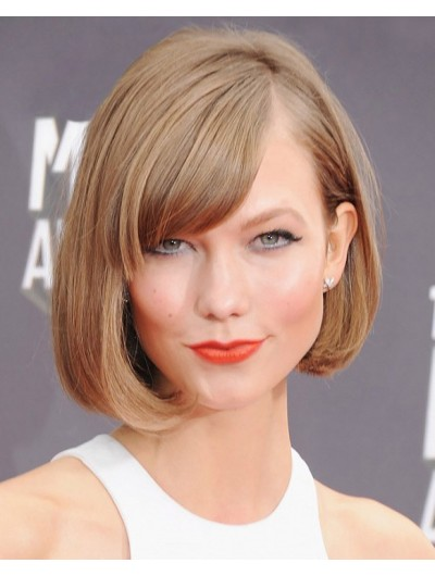 Wavy Lace Front Short Synthetic Hair Bobs Blonde Wig