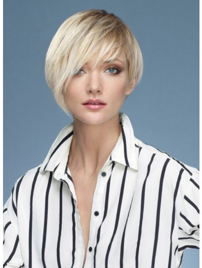 Asymmetrical With Esprit Capless Cropped Wig With Bangs