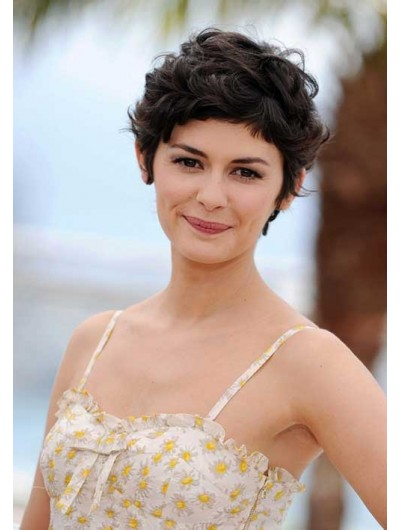 Audrey Tautou Thick Pixie Hair Wig