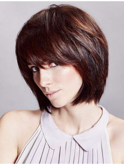 Remy Human Hair Bob Wig With Bangs