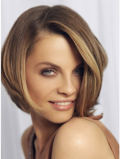 Lace Front Short Bob With Tapered Ends Wig