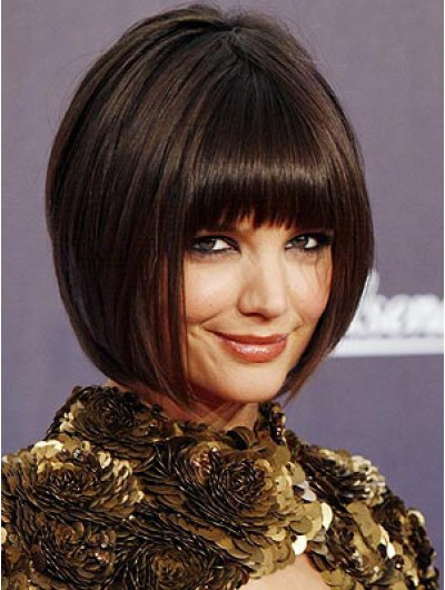 Straight Capless Short Synthetic Hair Wig With Bangs