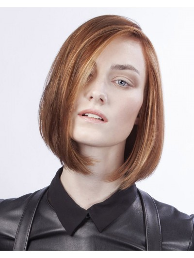 Straight Lace Front Short Remy Human Hair Classic Wig