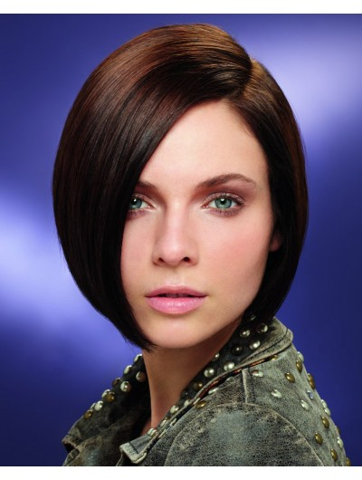 Straight Lace Front Chin Length Synthetic Hair Bobs Wig