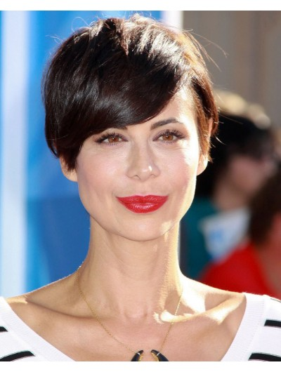 Straight Catherine Bell Short Capless Wig