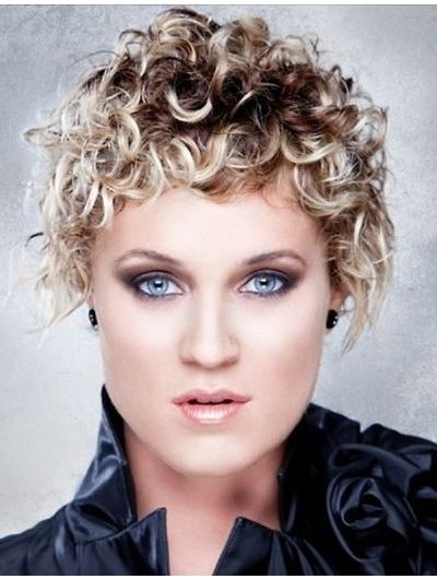 Cute Short Curly Synthetic Hair Wig