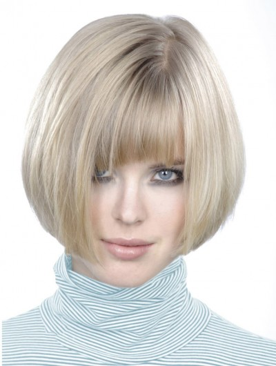 Bob Ends Inwards Chin Length Synthetic Wig