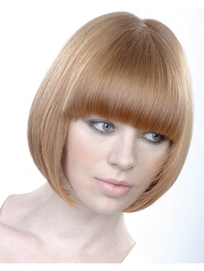 Modern Round Bob Synthetic Hair Wig