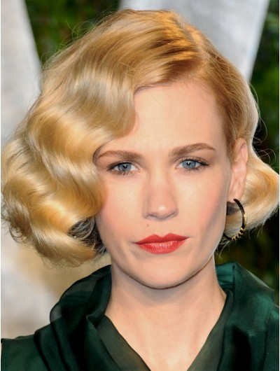 Finger Waves On Bob Haircut Synthetic Hair Wig