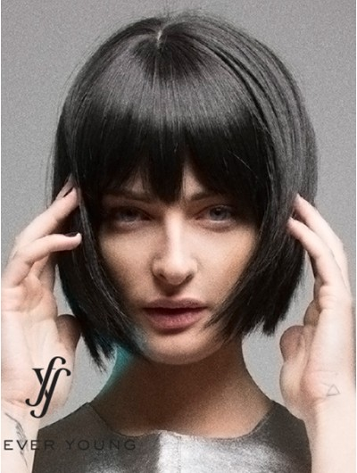 Straight Capless Short Synthetic Hair Bobs Wig