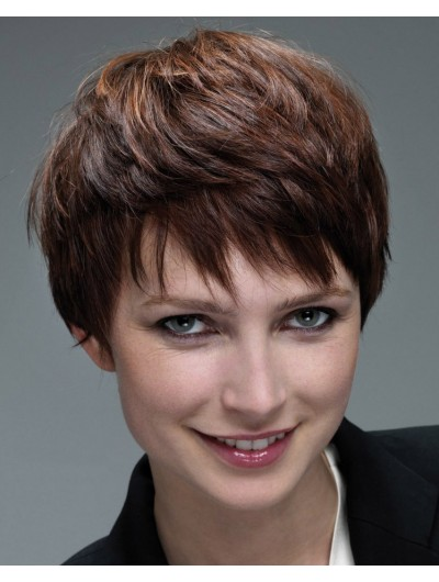 Straight Capless Short Synthetic Wig With Bangs