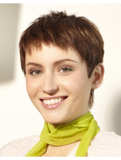 Gamine Pixie Cut Capless Short Wig