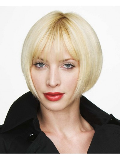 Blonde Bob Chin Length Capless Straight Wig