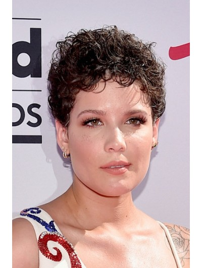 Halsey Short Hairstyles Short Curls Afro Wig