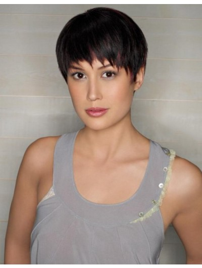 Hassle Free Short Hairstyle Straight Capless Wig