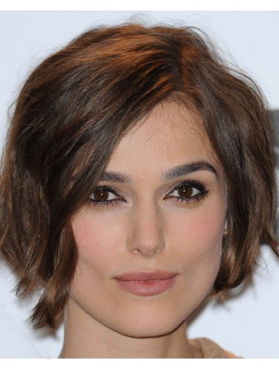 Keira Knightley's Curled Short Hair Wig