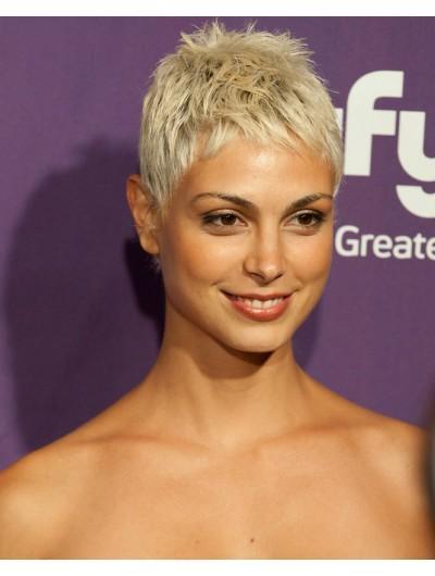 Morena Baccarin's Short Blonde Hair Wig