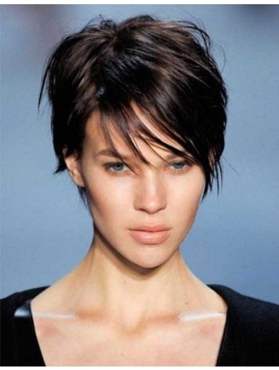 Pictures Of Short Hairstyles Wig With Bangs