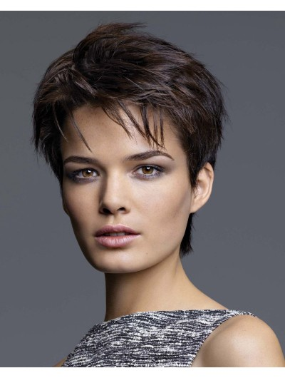 Straight Pixie Cut With Masculine Sides Wig