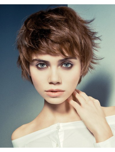 Synthetic Pixie With Volume Hair Layered Wig