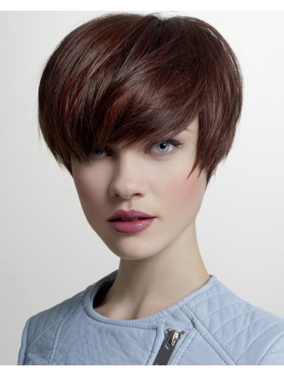 Capless Short Synthetic Hair Wig With Bangs