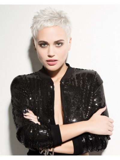 Platinum Blonde Pixie Short Boycuts Wig