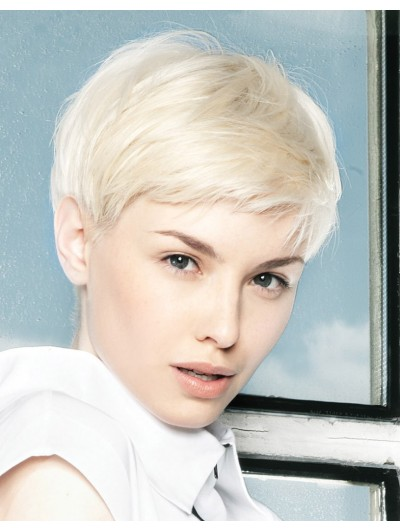 Platinum Ultra Short Cut Straight Wig