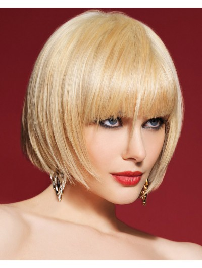 Straight Capless Chin Length Synthetic Hair Bobs Wig