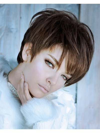 Synthetic Short Hair With High Lift Wig