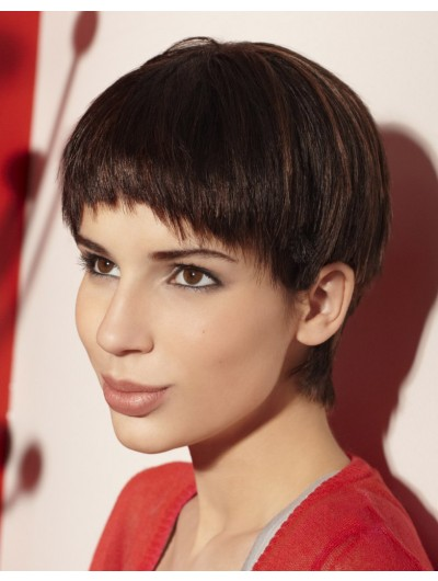 Short Hairstyle For A Swan Like Neck Wig