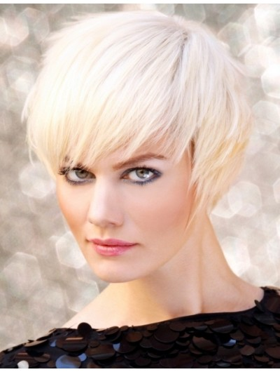 Short Bob Hairstyle Capless Cropped Wig