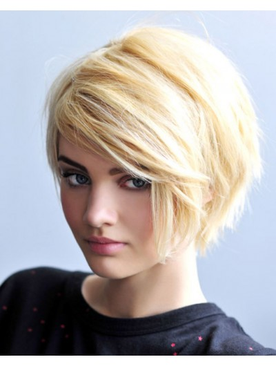 Short Bob Hairstyles Wig With Side Bangs