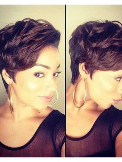 Short Wavy Haircut Wig For Black Women