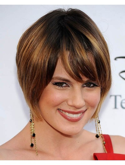 Short Hairstyles Women Thick Hair Wig