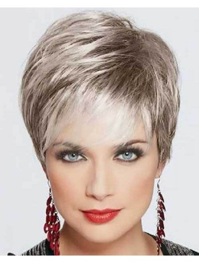 Short Pixie For Older Women Wig
