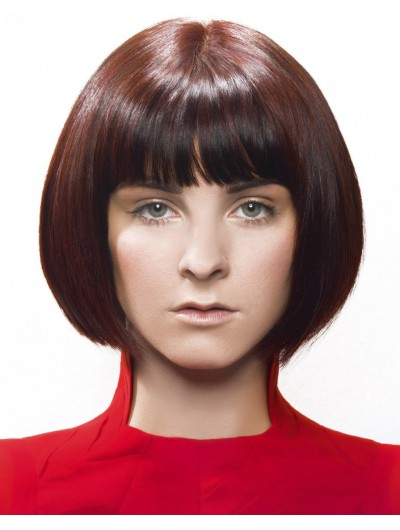 Sleek And Curved Short Bobs Wig