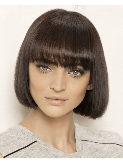 Sleek Bob Capless Short Remy Human Hair Bobs Wig