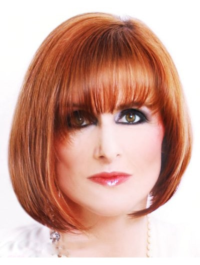 Sophisticated Ginger Hair Straight Capless Wig