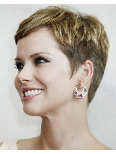 Summer Short Stylish Pixie Haircut Wig For Women