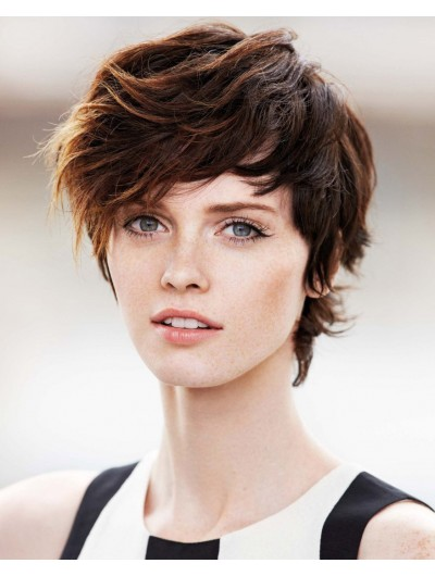 Sweet Short Crop With Highlights Wig