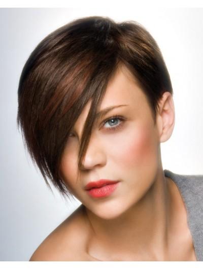 Tapered Short Hairstyle Straight Capless Wig