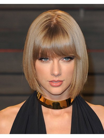 Taylor Swift Remy Human Hair Bobs Wig
