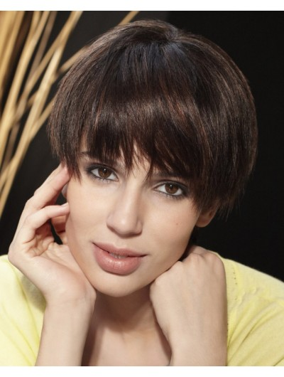 Timeless Short Hairstyle Remy Human Hair Wig